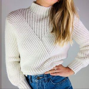 Philosophy cream chunky mockneck oversized sweater